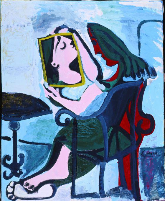 Mujer con espejo. Pablo Picasso